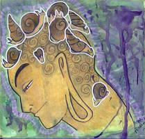 Buddha  meditation by snail-lady