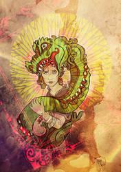 the snake priestess by snail-lady