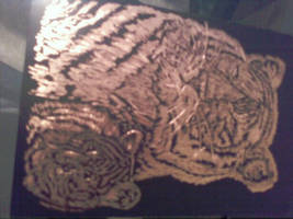 tiger engraving by 3and4fan