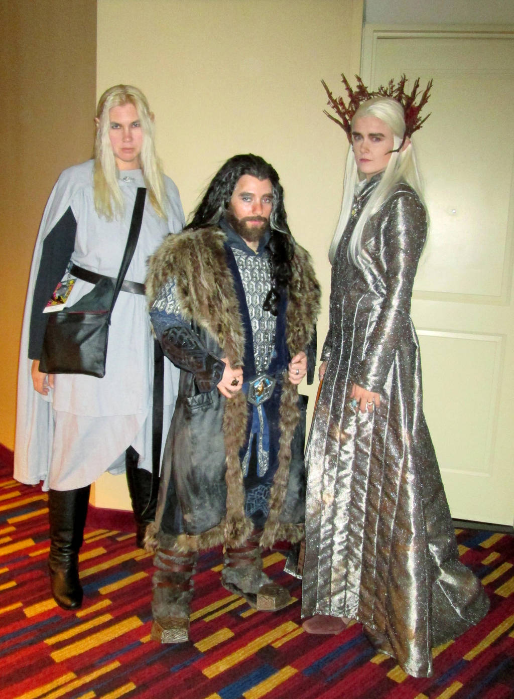 Thorin Oakenshield and his elf posse by damnitsasha