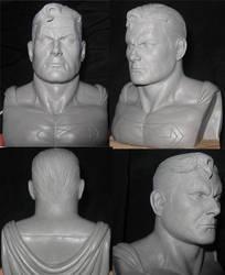 Superman Bust by eskulltor