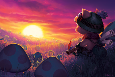 Teemo: Field of Dreams by robynlauart
