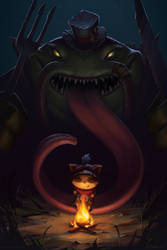 Tahm Kench: The River King by robynlauart