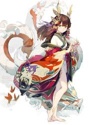 Puzzle and Dragons - Tsubaki by nnnnoooo007