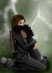 The Hunger Games: Katniss and Rue by manic-k