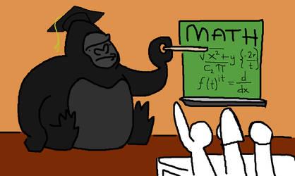 Math Gorilla by FiestaFacelift
