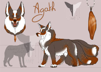 Agath ref sheet by AmethystTheKitsune