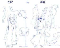 2007 vs 2010 - vampire oc by liento
