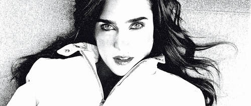 Jennifer Connelly in B and W by ColonelFlagg