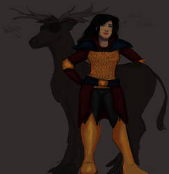 Tyche with awesome Elk-Pathfinder by Goblin-Queenie