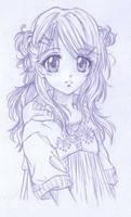 Lilyann Adolescente Sketch by Phadme