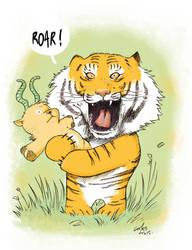 cute tiger by superfanfan