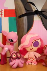 Chibi Venus and Pink Pals by fyre-flye