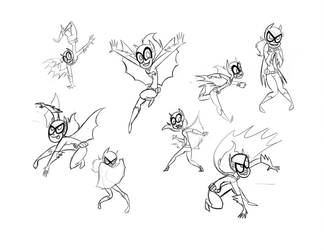 SBFF Batgirl sketches by fyre-flye