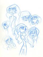 SBFF Wonder Girl face studies by fyre-flye