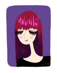 self portrait by fyre-flye