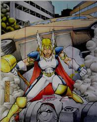 Thor Girl Dangerous Divas Artist Proof by GeorgeCalloway