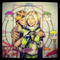 Rogue and Gambit at the fair by GeorgeCalloway