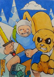 Finn, Jake and BMO by GeorgeCalloway