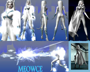 Meowce character reference by grim22x7