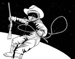 Space cowboy by Sakatak