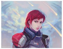 Commander Shepard by Linnpuzzle