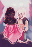 Leetah and Cutter by Linnpuzzle