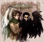 Good Omens: winter by Linnpuzzle