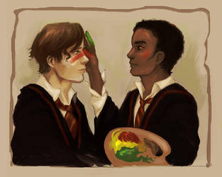 Seamus and Dean by Linnpuzzle