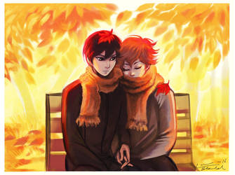 Kagehina: autumn by Linnpuzzle