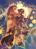 Strongbow and Moonshade by Linnpuzzle