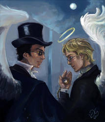 Pocketwatch Crowley+Aziraphale by Linnpuzzle
