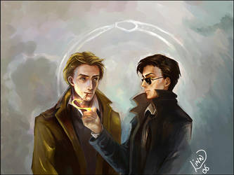 Constantine and  Crowley by Linnpuzzle