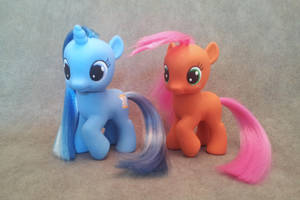 MLP: FiM - filly Minuette and Babs - customs by hannaliten