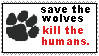 Stamp Save the wolves.... by izzyjaneseven