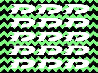 Danny phantom green striped wallpaper logos by OCPhantom