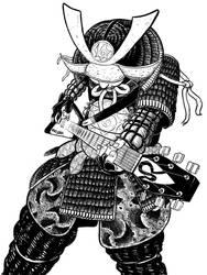 Guitar solo shredding samurai by scheurbert