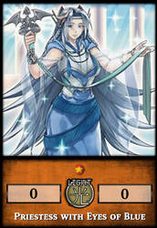 Priestess with Eyes of Blue by KogaDiamond1080
