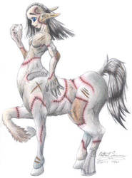 Patchwork Centaur by JuviDrake