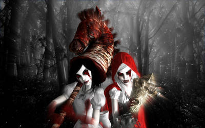 Alice and Woolfe Hysteria by BloodyNyan