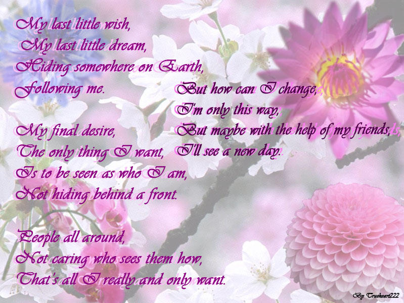 Flower Poem By Trueheart222 On Deviantart