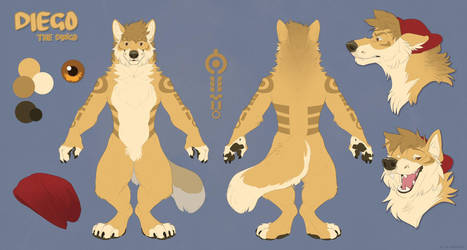 Reference Sheet Commission-Diego by BearlyFeline