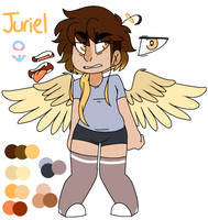 Angelic Asshole: Angel-sona Ref by JesterFestivle