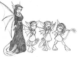 Sister Ghidra and the Dorats by Heckfire