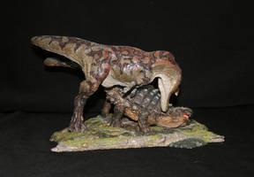 Tarbosaurus vs Tarchia by Maastriht123