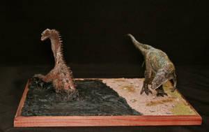 Yangchuanosaurus shangyouensis and Shunosaurus Lii by Maastriht123