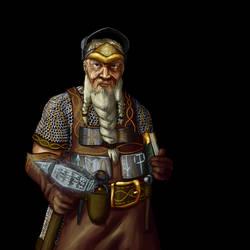 Wesnoth - Dwarf Runemaster by thespaceinvader