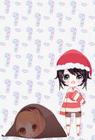 Senpai!~ Merry Christmas.. by EliKitsune