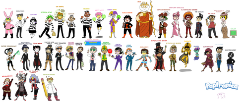 EVERY SINGLE POPTROPICA VILLAIN DRAWN OUT by MissEligon