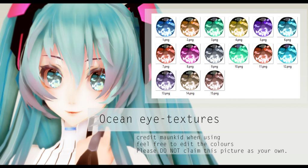 Mmd Ocean Eye Textures Dl By Maunkid On Deviantart